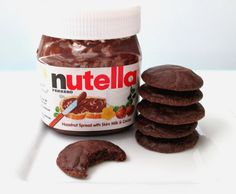 Nutella Cookies Chocolate Hazelnut Cookies 1 dozen by TheCravery. Chocolate Hazelnut Cookies, Nutella Cookies, No Bake Cookies, Baking Recipes, Cookie Recipes, Bake My Cake, Cocktail Desserts, Cocktails, Drinks