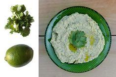Cilantro-Lime Hummus Recipe.