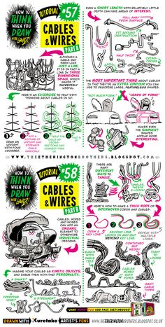 How to draw CABLES, WIRES and HOSES tutorial by STUDIOBLINKTWICE.deviantart.com on @DeviantArt
