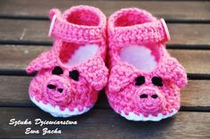 Hey, I found this really awesome Etsy listing at https://www.etsy.com/listing/130258580/crochet-baby-shoes-baby-booties-pink-pig