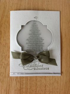 Handmade Christmas Card Kit Vellum Window Evergreen MD w Mostly Stampin Up Prod | eBay