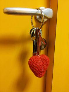 Portachiave a cuore 3D rosso