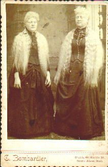 Albino Sisters   (cabinet photo by C. Bombadier, North Adams, MA) Nineteenth Century Albinism