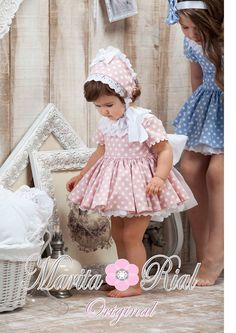 ideas for sewing clothes kids toddlers dress patterns Cute Little Girl Dresses, Baby Girl Dresses, Baby Dress, Toddler Dress Patterns, Baby Clothes Patterns, Baby Girl Fashion, Kids Fashion, Spanish Baby Clothes, Toddler Girl Style