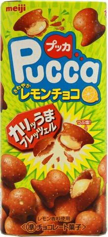 Meiji Pucca — Lemon Chocolate Flavor $1.80 http://thingsfromjapan.net/meiji-pucca-lemon-chocolate-flavor/ #Japanese snack #Japanese chocolate #delicious Japanese snack