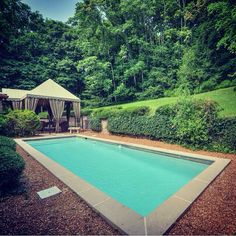 Loving the privacy that surrounds you at the cabana & pool in #BelleMeade. #ForSale #NCR #Nashville