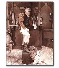 """""""The Gambler"""" Old Time Photo Booth for rent in San Diego CA with complete mobile service to the entire USA, complete with Backdrop, Costumes, Accessories & Guns!"""