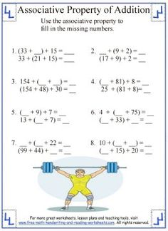 1000+ images about Math: Properties of Addition and ...