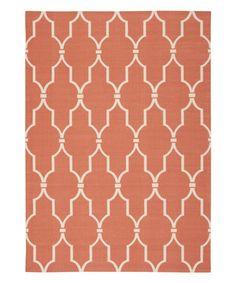 This Orange Lattice Indoor/Outdoor Rug by Nourison is perfect! #zulilyfinds