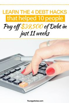 Learn the 4 debt hacks that helped 10 people pay off $39,500 of debt in just 11 weeks. Wow what a great post I took away a ton of tips on how to pay off my debt first it's so amazing that she actually created a fun way to pay off your debt. Great read!