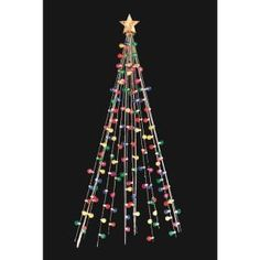 Home Accents Holiday, 7 ft. 140-Light Multi-Color Cone Tree, TY171-1218 at The Home Depot - Mobile