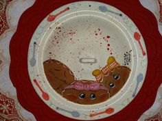 Vintage Hand Painted Enamel Gingerbread Lid by VickiesCrafts, $16.50