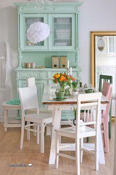 Vintage Stühle   Weisser Stuhl , Shabby Chic Stuhl, Vintage Stuhl   Ein  Designerstück Von