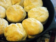 Nana's biscuit recipe | homemade biscuits that my grandmother cooked in her decades old Cast Iron #survivallife www.survivallife.com