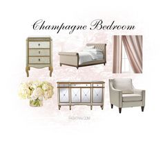 Champagne Bedroom Inspiration Champagne Bedroom, Parisian Decor, Bedroom Inspiration, Entryway Bench, Table, Furniture, Home Decor, Entry Bench, Hall Bench