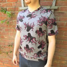 Thread Theory - Strathcona Henley Tee T-shirt by Crafy Clyde #octopus #menswear #quirkyfashion #strathcona