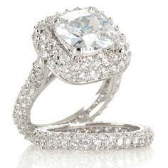 Justine Simmons Jewelry CZ 2-piece Wedding Band Stack Ring Set