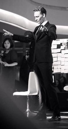 Tom dancing in Korea.