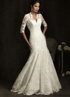 Noble ivory lace Mermaid Wedding Dress Bridal Gown Size 6 8 10 12 14 16+++ | eBay