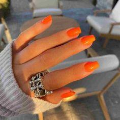 Orange Acrylic Nails, Summer Acrylic Nails, Best Acrylic Nails, Orange Nails, Summer Nails, Pastel Nails, Acrylic Nails Kylie Jenner, Kylie Jenner Nails, Aycrlic Nails