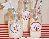 12 Milk / Beverage Bottles with Lids with FREE Printable Bottle Labels - 16 Ounce Square - Milk and Cookies, Baby Shower, Wedding