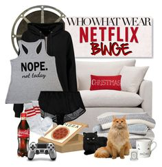 """""""What to Wear: Netflix Binge"""" by gokarm ❤ liked on Polyvore featuring Spicher and Company, Volo Design, Barefoot Dreams, BLK DNM, Only Hearts, Levtex, Donna Wilson, Diptyque, WhatToWear and netflix"""
