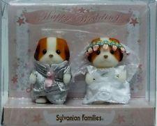 Sylvanian Families Baby Pair Set - Wedding Chiffon Dog ❤ Calico Critters Japan