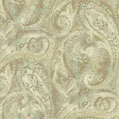 York GF0717 Gold Leaf Raised Paisley Wallpaper