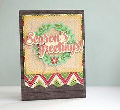 Season's Greetings! Card by Sarah Webb via Jillibean Soup Blog
