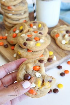 My Favorite Cookie Recipe - The Idea Room Reeses Pieces Cookie Recipe, Reese's Pieces Cookies, Cut Out Cookie Recipe, Favorite Cookie Recipe, Chip Cookie Recipe, Oatmeal Cookie Recipes, Delicious Cookie Recipes, Best Cookie Recipes, Yummy Cookies