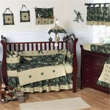 Camo Green Baby Bedding by JoJo Designs - Camo Green Crib Bedding