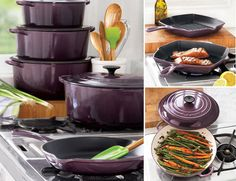 Cassis Le Creuset from Sur La Table. Need it all NOW.