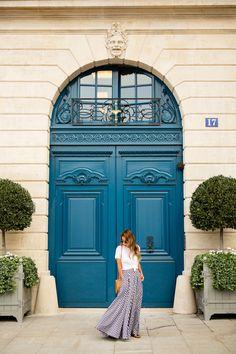 gingham skirt in paris