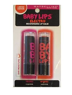 MAYBELLINE NEW YOURK LIMITED EDITION BABY LIPS TWEEN PACK PINK SHOCK and ORANGE MOISTURIZING LIP BALM >>> To view further, visit now : Lip Care