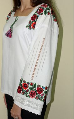 Ukraine, from Iryna Modern Embroidery, Embroidery Applique, Beaded Embroidery, Cross Stitch Embroidery, Embroidery Designs, Folk Fashion, Ethnic Fashion, Lace Beadwork, Cute Shirt Designs