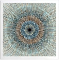 'Split Circle - Print Edition'  Hand pulled 6 colour screen print  Black, blue, gold, aqua, coral and spot glaze  On 100% cotton somerset satin 310 gsm tub size  Size: 57cm x 57cm (22.5 x 22.5 inches)  Edition of 100  Signed and Stamped