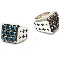 Precious gem and silver custom rings by Matt Booth, Room 101 Brand Lifestyle.