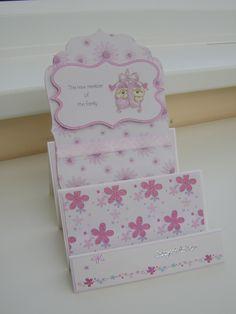 Handmade card using decorative papers and spellbinders dies