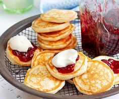 Smaller than pancakes, and fluffier than crepes, pikelets make a great breakfast, brunch or after-school snack. Traditionally served with jam and cream, but we also love them with a hearty dollop of our unbeatable lemon curd. Breakfast And Brunch, Breakfast Recipes, Dessert Recipes, Desserts, Brunch Recipes, Pancake Recipes, Snacks Recipes, Mini Pie Recipes, Sweet Recipes