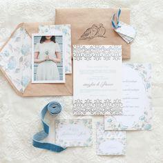 Powder blue wedding invitation suite | Anastasiya Belik Photography | http://burnettsboards.com/2013/12/powder-blue-white-wedding/