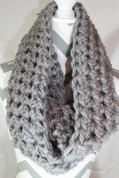 Chunky scarf, infinity scarf, circle scarf by SimplyKnotting on Etsy https://www.etsy.com/listing/253636085/chunky-scarf-infinity-scarf-circle-scarf