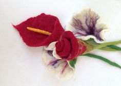 Part of wedding bouquet! Felted flowers by https://www.etsy.com/shop/QaraQul