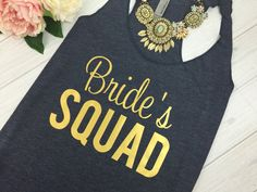 Brides Squad, Bride Tribe Tank, Bridesmaid Tank Top, Bridesmaid Tanks, Bridal Party Tanks, Wifey Tank, Bachelorette Party