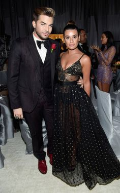 Adam Lambert & Lea Michele from Oscars 2017: Party Pics  The one-time Glee guest star reunites with the actress at the 25th Annual Elton John AIDS Foundation's Academy Awards viewing party.