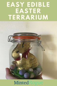 Need a last minute pretty gift? Check out my easy as edible Easter terrarium - it sounds way harder than it is.