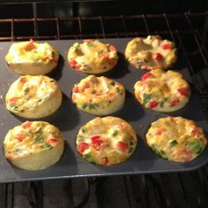 Mini crustless quiche (or mini frittata or egg muffins) recipe that can modified to include any vegetable or protein you would like. Perfect for a quick and nutritious breakfast