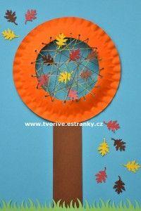 Grappige herfstboom van een papieren bordje. Geweven met draad aan de binnenkant. Fall Arts And Crafts, Diy And Crafts, Crafts For Kids, Fall Halloween, Happy Halloween, Games For Kids, Art For Kids, Yarn Crafts, Paper Crafts