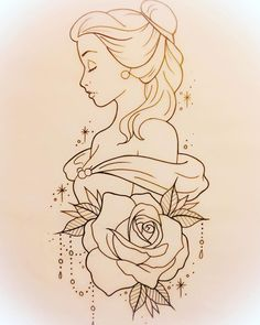 drawing drawing disney Tattoo Disney Pixar Belle 25 T Pencil Art Drawings, Art Drawings Sketches, Cartoon Drawings, Easy Drawings, Tattoo Sketches, Tattoo Drawings Tumblr, Disney Pixar, Disney Art, Disney Ideas