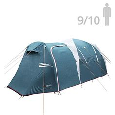 Skandika 6 Man Tent Canopy Extension for Model 1998 Grey//Orange