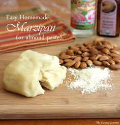 Easy Homemade Marzipan or Almond Paste.  daringgourmet.com